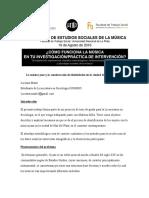 Jazz e Identidades en Mar Del Plata