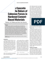 Why Does Concrete Set the Nature of Cohesion Forces in Hardened Cementbased Materials