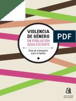 Violencia de género en población adolescente