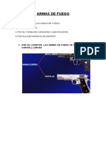 Clasificación de Las Armas de Fuego