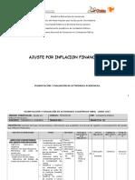 Planificación y Evaluación de Actividades Académicas-Ajuste Por Inflacion