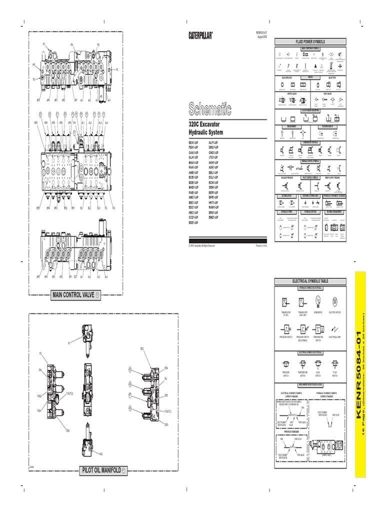 273198807 cat 320cl schema hydraulic system pdf rh es scribd com Cat 320 Excavator Specifications Cat Excavators