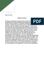 philomena hansen reflectif writing