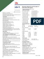 Spectrum Reading, Grade K-Index