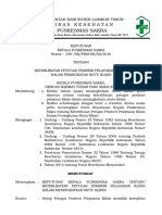 9.1.1.1 Keterlibatan Petugas Pemberi Pelayanan Klinis Dalam Peningkatan Mutu Klinis