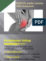 Osteoarthritis Pada Lansia