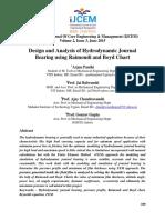 Design and Analysis of Hydrodynamic Journal Bearing Using Raimondi and Boyd Chart
