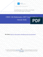 Mathematics 2007 Unsolved Paper Outside Delhi.pdf