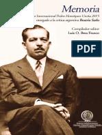Memoria del Premio Internacional Pedro Henríquez Ureña 2015