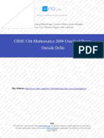 Mathematics 2008 Unsolved Paper Outside Delhi.pdf