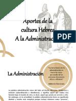 Aportes de La Cultura Hebrea a La Administracion