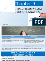 Chapter 9 Collecting Primary Data Using Questionnaire Edited