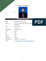 Curriculum Vitae (Cv) English Official