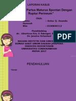 Laporan Kasus ( Ruptur Perineum)