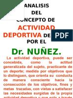 Analisis Del Concepto Activ. Deportiva . Dr. Nuñez.