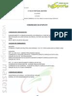 CLASSIFICAÇÃO 1ª ETAPA - 2ª VOLTA PORTUGAL MASTERS
