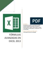 Excel 2013 Formulas Avanzadas