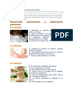 Característica Del Desarrollo Del Infante de 0 a 3 Años (1)