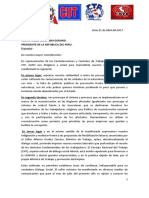 Carta Presidente 4 Centrales Sindicales