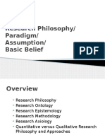Week 2 - Research Philosophy and Paradigm