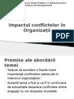 Impactul conflictelor in organizatii