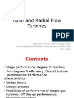Axial and Radial Flow Turbines