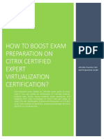 Certification Guide on Citrix Certified Expert Virtualization 1Y0-401 Exam
