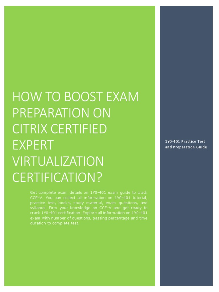 Certification Guide On Citrix Certified Expert Virtualization 1y0