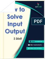 How to Solve INPUT OUTPUT - By Sonali Dixit - EdKraft.in
