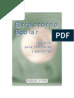 El Trastorno Bipolar. Una Guía Para Familiares y Pacientes-2001 bonos