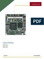 CE8M COM Express Module Product Manual - Radisys
