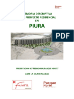 Memoria Residencial Parque Norte