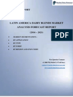 Latin America Dairy Blends Market Research Forecast report 2016-2021