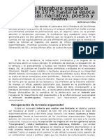 Literatura 13 La Literatura Espac3b1ola Desde 1975 Hasta La c3a9poca Actual Narrativa Poesc3ada y Teatro (1)