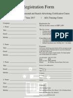 Registration Form Adwords Certification INT