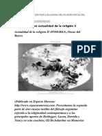 Revision Del Filosofo Argentino Oscar Del Barco Sobre Si Tiene Ono Utilidad La Religion Desde Lo Filosófico