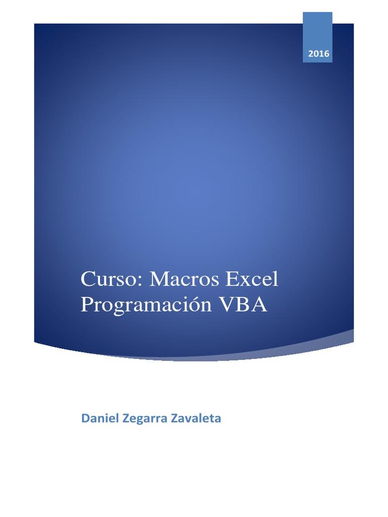 Curso Macros Excel Programacion VBA _ Daniel Zegarra Zavaleta.pdf