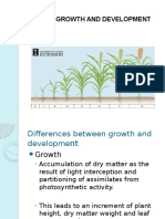 Plant Growth and Development 2016