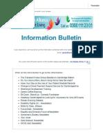 Information Bulletin 20.04.17
