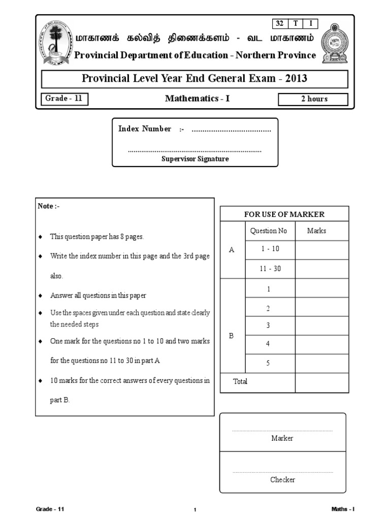 EOL Mat Paper1 Nothern 2013 (1) | Histogram | Circle