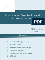 Conductance Quantization and Landauer Formula