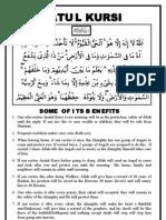 Ayatul Kursi -  Some of Its Benefit