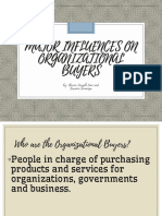 Major Influences on Organizational Buyers