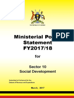 Uganda Ministry of Gender, Labour and Social Development ministerial policy statement FY2017/18