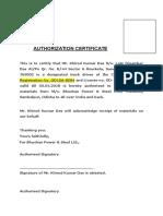 Auth Certificate