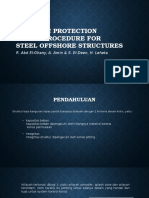 Cathodic Protection Design Procedure for Steel Offshore Structures