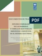ESTUDIO COMPARADO DE LAS BARRERAS O UMBRALES ELECTORALES IMPLÍCITOS Y EXPLÍCITOS EN EL SISTEMA ELECTORAL