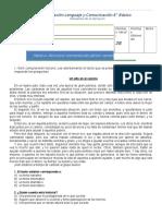 Evaluación Lenguaje y Comunicación 6