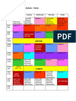 kathys schedule
