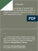 ClausePowerPoint Presentation